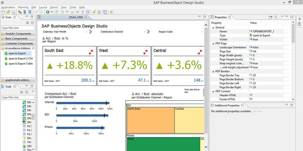 bi excellence Design Studio Export | biExport